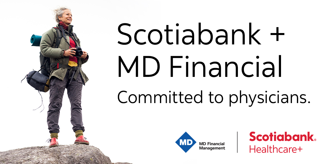 MDFM and Scotiabank Healthcare+ logos